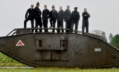Pictured is Guy Martin with the tank in Cambrai, Northern France JCB TEAM HELPS ENGINEER WW1 TANK CENTENARY TRIBUTE EXCAVATOR giant JCB helped TV personality Guy Martin to engineer a tribute to the role tanks played in helping change the course of the First World War. Now the story of the tankÕs role and its modern-day recreation will be told in a Channel Four documentary ÔGuy MartinÕs WW1 One TankÕ on Sunday, November 19 at 8pm. The truck mechanic and TV presenter came up with the idea of producing a replica of a 30-tonne Mark IV tank to mark the centenary of a battle in which they were first deployed. And he turned to JCBÕs engineers and welders to help turn his dream into reality in time for the special anniversary. They rose to the challenge in double-quick time with the profile parts cut, rolled and bent into shape at JCB Heavy Products in Uttoxeter before being welded together at JCBÕs World HQ in Rocester. The huge team effort ensured the tank was operational and on display in Cambrai, Northern France on Armistice Day on Saturday, November 11th. It was at this location - exactly 100 years ago - where the original Mark IV tank helped the Allies on the Western Front to make an unprecedented breakthrough at the Battle of Cambrai. Guy Martin was given just five months to build an authentic reproduction of the 30-tonne tank from scratch and was quick to call on JCBÕs engineering expertise. At more than 26 feet long and 10 feet wide, the 105 horsepower machine had a top speed of just four mph Guy said: ÒWhen I first looked at this challenge, I thought ÔThis is a big ask. WeÕre not going to see this happen.Õ It is a massive undertaking and JCB was the main reason this was able to happen. They built the main part of the tank, and then the lads at the Norfolk Tank Museum put all the engine together. But JCBÕs technology and knowhow was so important. ÒAs a challenge to build it, IÕd say this is the biggest thing weÕve undertak