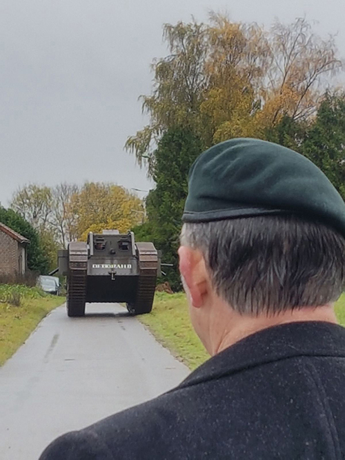 Veteran following Tank